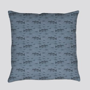 Bass On Blue Everyday Pillow
