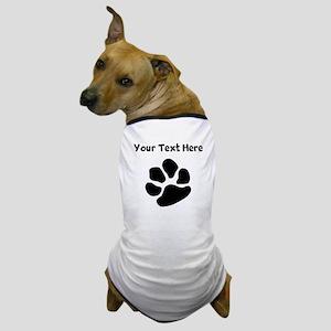 Custom Pawprint Silhouette Dog T-Shirt