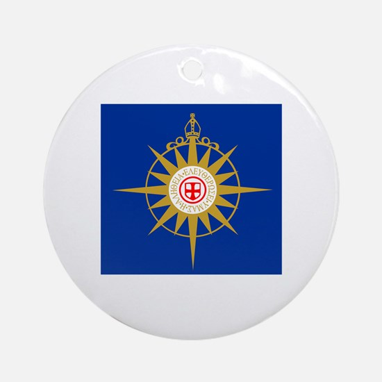 Anglican Flag Round Ornament