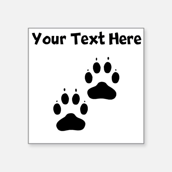 Custom Pawprints Silhouette Sticker