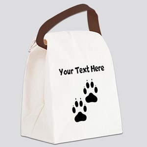Custom Pawprints Silhouette Canvas Lunch Bag