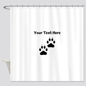 Custom Pawprints Silhouette Shower Curtain