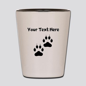 Custom Pawprints Silhouette Shot Glass
