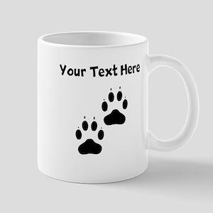 Custom Pawprints Silhouette Mugs