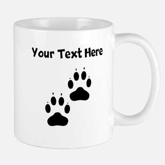 Custom Pawprints Silhouette Mugs