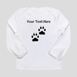 Custom Pawprints Silhouette Long Sleeve T-Shirt