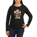 Baena Family Crest Women's Long Sleeve Dark T-Shir