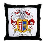 Baena Family Crest Throw Pillow