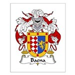 Baena Family Crest Small Poster