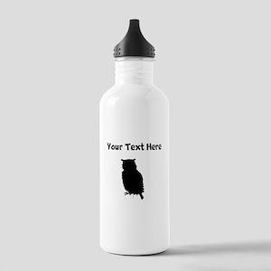 Custom Owl Silhouette Water Bottle