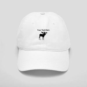 Custom Moose Silhouette Baseball Cap