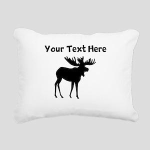 Custom Moose Silhouette Rectangular Canvas Pillow