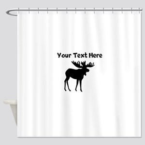 Custom Moose Silhouette Shower Curtain
