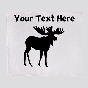 Custom Moose Silhouette Throw Blanket