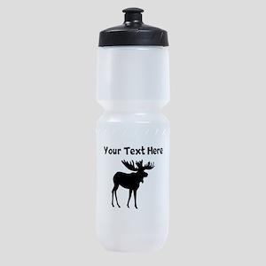 Custom Moose Silhouette Sports Bottle