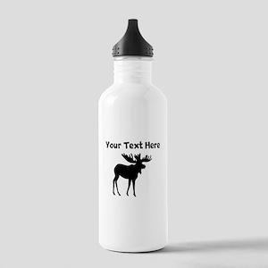 Custom Moose Silhouette Water Bottle