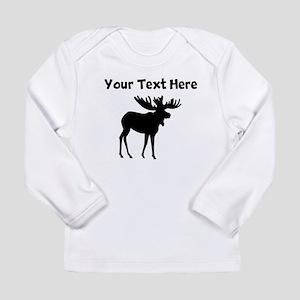 Custom Moose Silhouette Long Sleeve T-Shirt