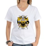 Bada Family Crest Women's V-Neck T-Shirt