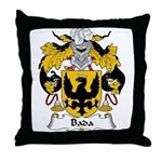 Bada Family Crest Throw Pillow