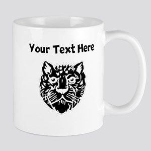 Custom Leopard Face Silhouette Mugs