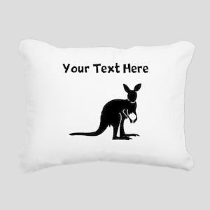 Custom Kangaroo Silhouette Rectangular Canvas Pill