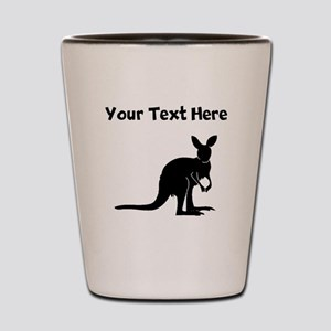 Custom Kangaroo Silhouette Shot Glass