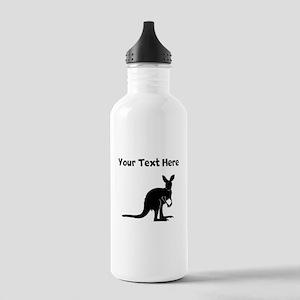 Custom Kangaroo Silhouette Water Bottle
