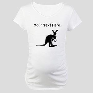Custom Kangaroo Silhouette Maternity T-Shirt