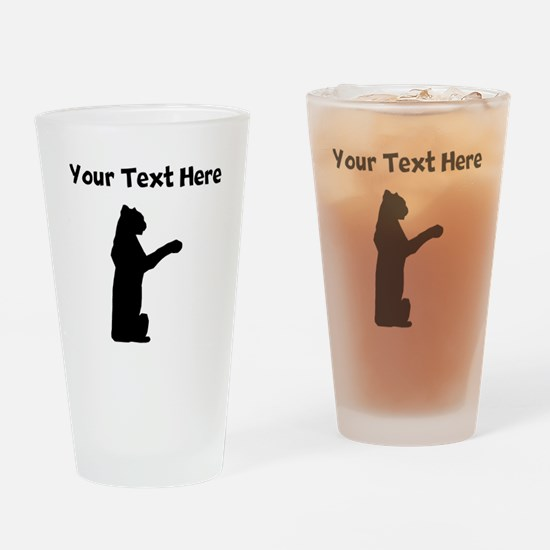 Custom Jaguar Silhouette Drinking Glass