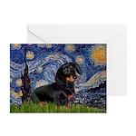Starry Night Dachshund Greeting Cards (Pk of 20)