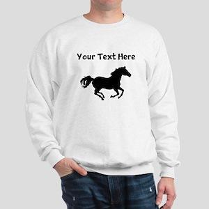 Custom Horse Running Silhouette Sweatshirt