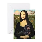 Mona Lisa/Dachshund (BT4) Greeting Card