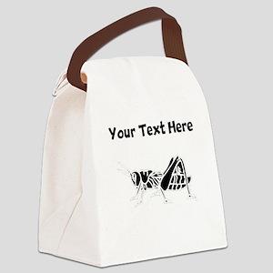 Custom Grasshopper Silhouette Canvas Lunch Bag