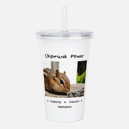 Chipmunk Totem Power Acrylic Double-wall Tumbler