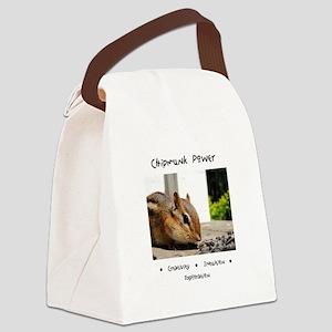 Chipmunk Totem Power Canvas Lunch Bag