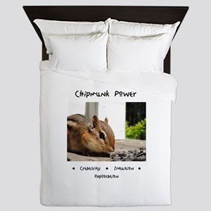 Chipmunk Totem Power Queen Duvet