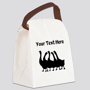 Custom Geese Silhouette Canvas Lunch Bag