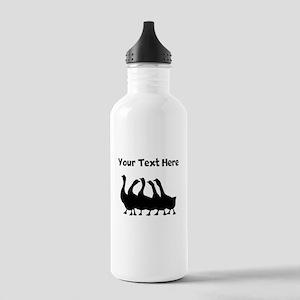 Custom Geese Silhouette Water Bottle