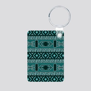 Turquoise Aztec Pattern Keychains