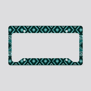Turquoise Aztec Pattern License Plate Holder