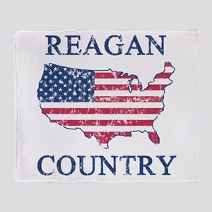Retro Reagan Country Throw Blanket