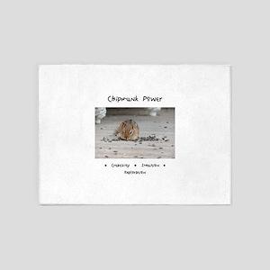 Chipmunk Animal Medicine 5'x7'Area Rug