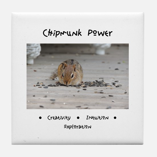 Chipmunk Animal Medicine Tile Coaster
