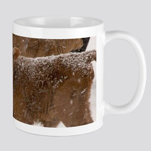 Calves in The Snow Mugs