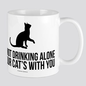 Drinking Alone With Cat Mugs