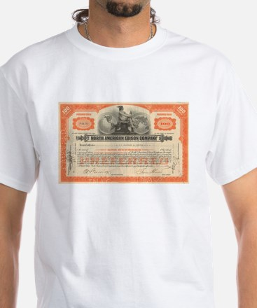 North American Edison White T-Shirt