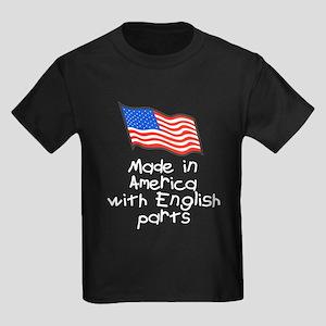 Made in America English Kids Dark T-Shirt