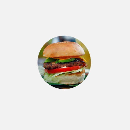 Gourmet Burger and Smoothies Mini Button