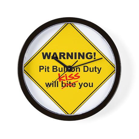 Pit Bull will KISS! Wall Clock