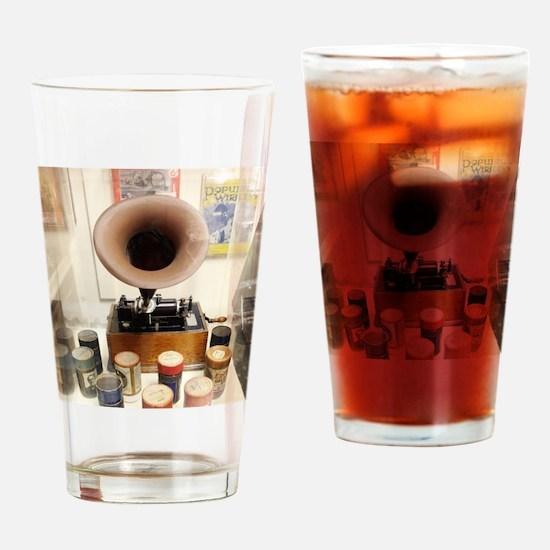 Vintage Sound Machine Drinking Glass